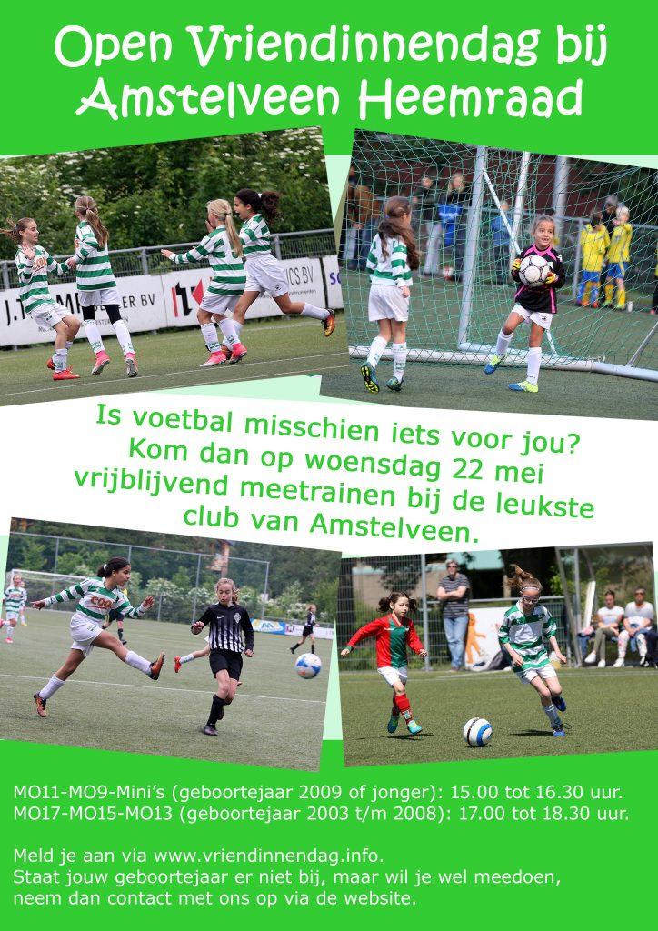 flyer vriendinnendag voetbal vereniging Amstelveen