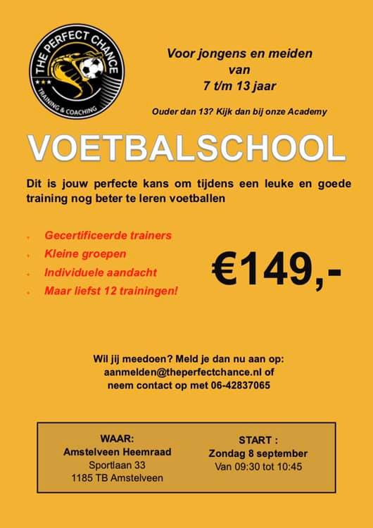 voetbalschool the perfect chance